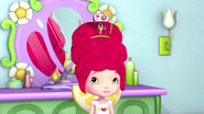 Strawberry is feeling a little weird with the haircam on her head