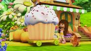 Orange and her cupcake