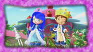 King Huckleberry and Queen Blueberry are playing chess