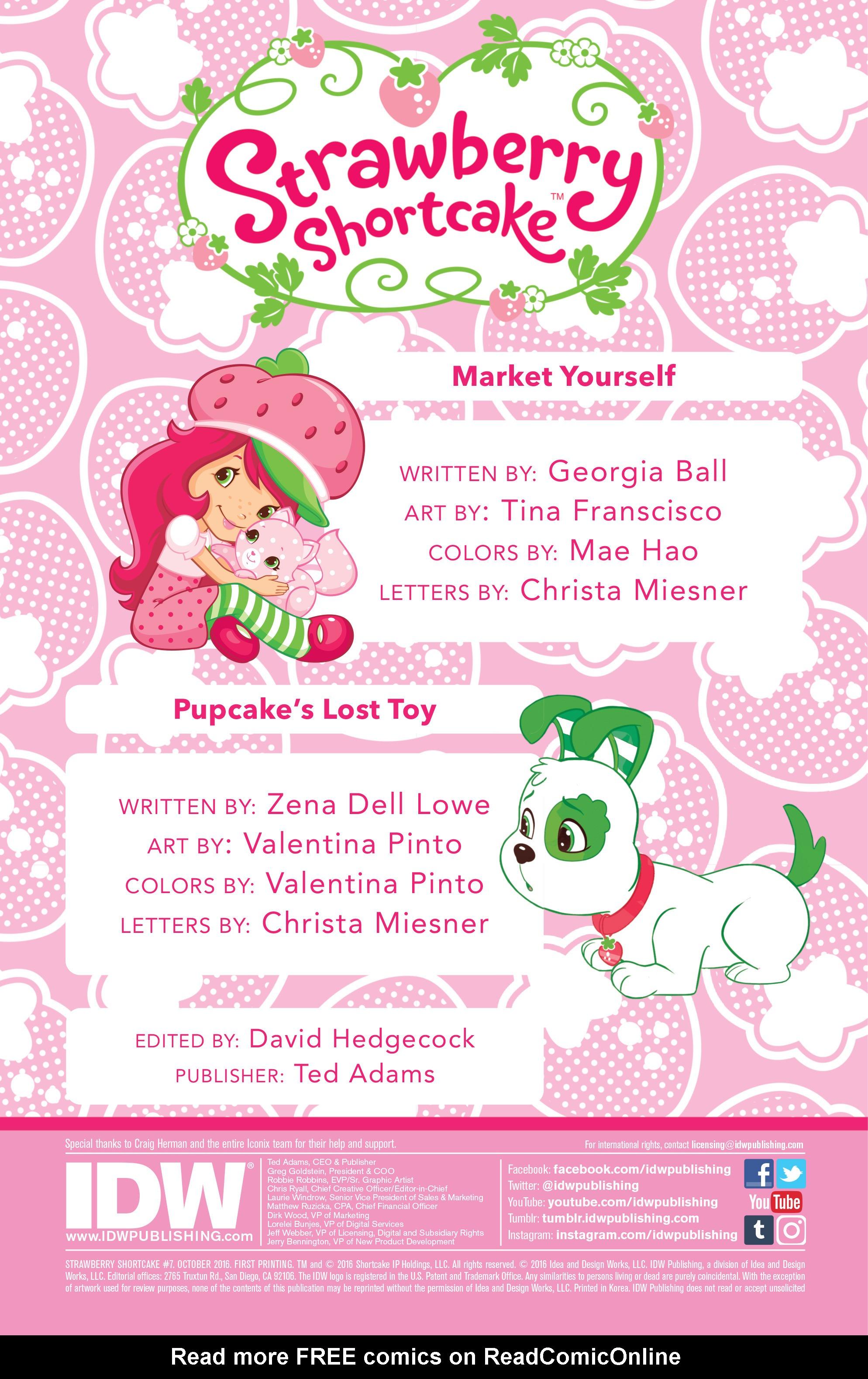 Image - Strawberry Shortcake Comic Books Issue 7 - Page 2.jpg ...