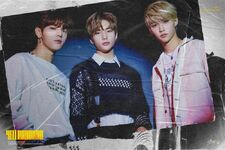 Woojin, Hyunjin and Felix Clé 2 Yellow Wood Promo Picture