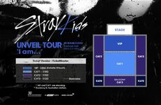 Stray Kids Unveil Tour I am... in Melbourne Seating Plan