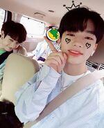 Hyunjin and Bang Chan IG Update 180529 (2)