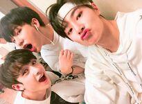 I.N, Hyunjin and Bang Chan IG Update 180505 (1)