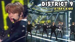 HOT Stray Kids - District 9, 스트레이 키즈 - 디스트릭트 나인 Show Music core 20180421