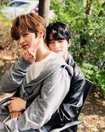 Lee Know and Hyunjin IG Update 180425