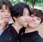 I.N, Hyunjin and Seungmin IG Update 180814