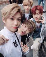 Felix, Bang Chan, Han, Seungmin IG Update 180411