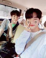 Hyunjin and Bang Chan IG Update 180529 (1)