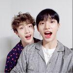 Hyunjin and Bang Chan IG Update 180424