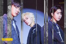 Bang Chan, Changbin and Han Clé 2 Yellow Wood Promo Picture