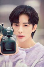 Hyunjin Mixtape On Track Jacket Shooting Behind