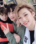 Felix, I.N and Bang Chan IG Update 180411