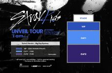 Stray Kids Unveil Tour I am... in Sydney Seating Plan
