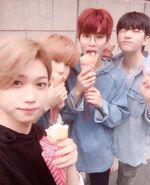 Seungmin, Felix, Han and Hyunjin IG Update 180711 (1)
