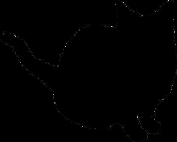 File:Cat silhouette by clipartcotttage-d7aridw.png