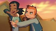 Jeremy tickles Samira