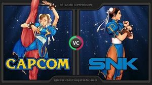 Artwork Comparison of CAPCOM vs SNK 2 (SNK vs CAPCOM) Side by Side Comparison