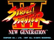 SFIII New Generation - title screen