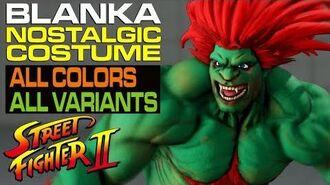 【SFVAE スト5AE】 コスチューム ノスタルジック ブランカ すべての色とバリアント blanka nostalgic costume