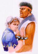 Complete File Street Fighter II Poster-Ryu&Chun-Li