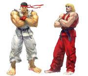 SFIV-Ryu and Ken Concept-1