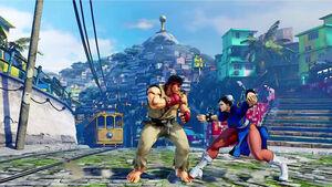 SFV-HillSidePlaza-Ryu vs Chun-Li