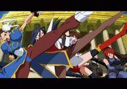 Namco × Capcom intro screenshot Chun-Li KyokoMinazuki WonderMomo Regina