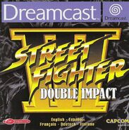 Street Fighter III - Double Impact (cubierta Europa)