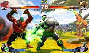 Super Street Fighter IV 3D Edition Hakan vs Zangief