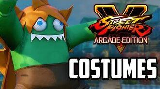 Blanka COSTUMES - Street Fighter V Arcade Edition
