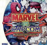 Marvel vs. Capcom Clash of Super Heroes (Dreamcast - cubierta América del norte)