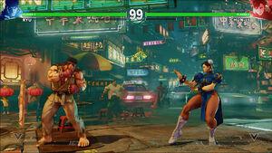 Bustling Side Street Ryu vs ChunLi