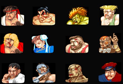 Street Fighter II Lose Portrait