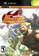 Capcom Fighting Evolution (XBOX - cubierta eeuu)