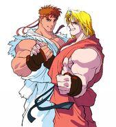 Club Capcom-Ryu and Ken.