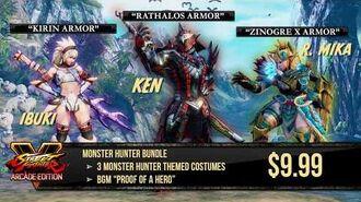 Street Fighter V- Arcade Edition - Monster Hunter Costume Bundle