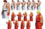 ProjectXZone-Ryu and Ken