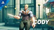 Street Fighter V Arcade Edition – Cody Gameplay Trailer PS4