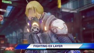 A new challenger. FIGHTING EX LAYER
