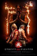 Street Fighter -- Assasins's Fist - póster promocional oficial - Ken & Ryu