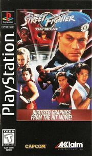 Street fighter the movie the game ps1 coverart