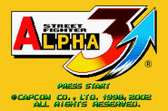Street Fighter Alpha 3 Upper Title Screen