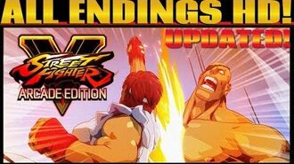 STREET FIGHTER V AE - All Arcade Mode Endings HD Updated (Including Sagat and G!)