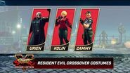 Street Fighter V- Arcade Edition - Resident Evil Costumes