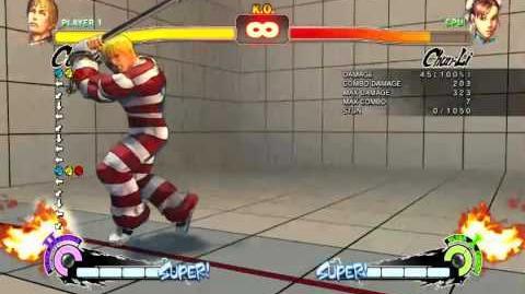 SSF4 AE Cody Last Dread Dust(Ultra II) full animation from jump