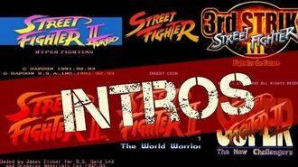 Street Fighter The Intro History - All Intros Openings
