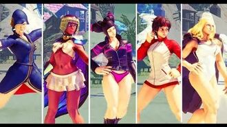 Street Fighter V - SWIMSUITS for Menat, Sakura, Kolin, Juri, and Falke are coming SF5