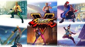 Street Fighter V 60fps - All Season 1 DLC Character Reveal Trailers