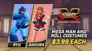 Street Fighter V Arcade Edition - Mega Man and Roll Costumes